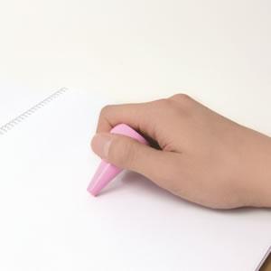 AOZORA ベビーコロール クレヨン 6色セットのピンク使用画像