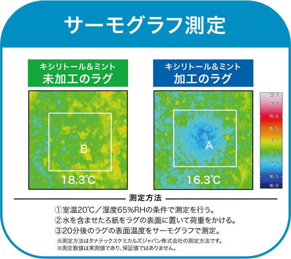 クールラグマット クールストリーム【春・夏用/おしゃれ】のサーモグラフ