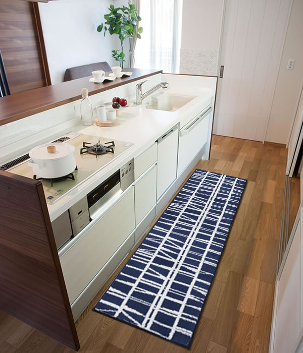 フィンレイソン キッチンマット CORONNA(コロナ)【洗える/北欧インテリア】グリーンの全体画像