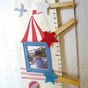 デコレ(DECOLE)プチシャンブル リトルサーカス 身長計 うさぎの詳細画像1