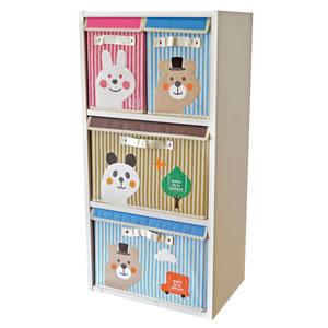 デコレ(DECOLE)プチシャンブル 収納BOX(S)のカラーボックス使用画像