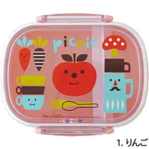 デコレ(DECOLE)デコレロ タイトランチBOX 1段 りんごの全体画像
