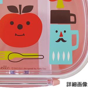 デコレ(DECOLE)デコレロ タイトランチBOX 1段 りんごの詳細画像