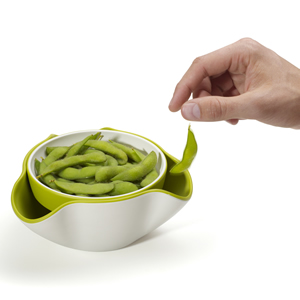 ジョセフジョセフ(josephjoseph)ダブルディッシュ グリーン/ホワイトの枝豆使用画像