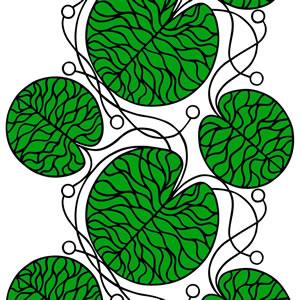 マリメッコ ファブリック ボットナ(Bottna)【北欧雑貨/北欧生地】グリーンの画像