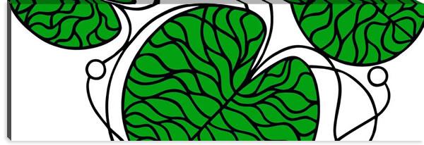 マリメッコ ファブリックパネル ボットナ(Bottna)450×1350×30mm【北欧雑貨/北欧生地】グリーンの画像
