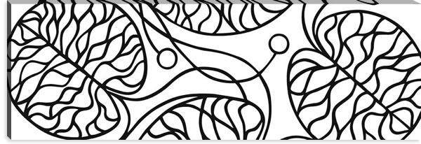マリメッコ ファブリックパネル ボットナ(Bottna)450×1350×30mm【北欧雑貨/北欧生地】ホワイトの画像