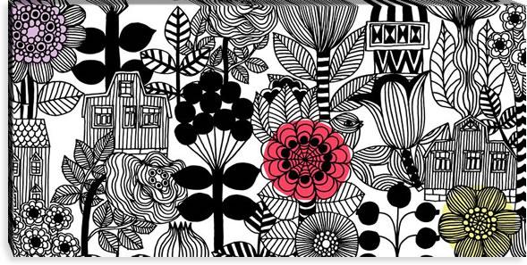 マリメッコ ファブリックパネル リントゥコト(Lintukoto)600×1200×30mm【北欧雑貨/北欧生地】の詳細画像
