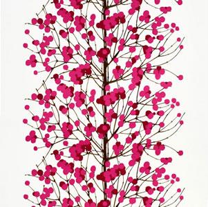 マリメッコ ファブリック ルミマルヤ(Lumimarja)【北欧雑貨/北欧生地】ピンクの画像
