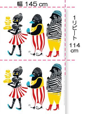 マリメッコ(marimekko)クルクエ(Kulkue)のファブリック(生地)全体画像