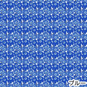 マリメッコ(marimekko)ファブリック(生地)ミニウニッコ(Mini-Unikko)ブルーの詳細画像