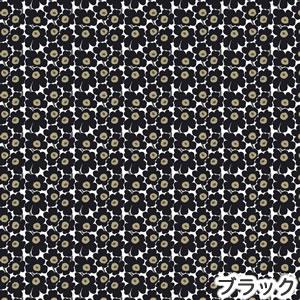 マリメッコ(marimekko)ファブリック(生地)ミニウニッコ(Mini-Unikko)ブラックの詳細画像