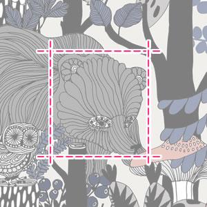 マリメッコ(marimekko)ヴェリエキセット(Veljekset)の生地(ファブリック)詳細サイズ画像