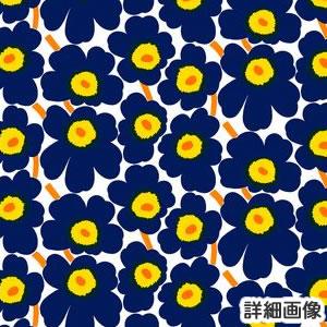 マリメッコ(marimekko)ファブリック(生地)ミニウニッコ(Mini-Unikko)ネイビーのズームアップ画像