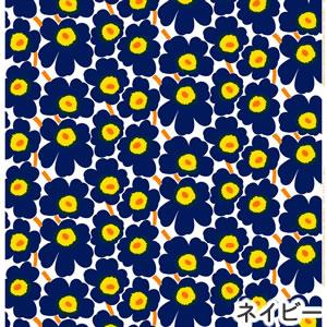 マリメッコ(marimekko)ファブリック(生地)ピエニウニッコ(Pieni Unikko)2 ネイビーの画像