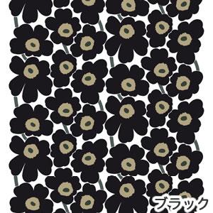 マリメッコ(marimekko)ファブリック(生地)ピエニウニッコ(Pieni Unikko)2 ブラックの画像
