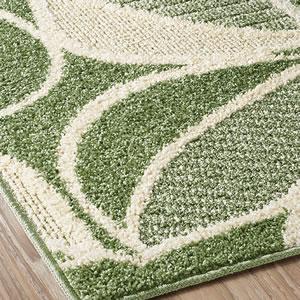 スミノエのラグマット カラープランツ(COLOR PLANTS)【おしゃれ/通年】グリーンの詳細画像