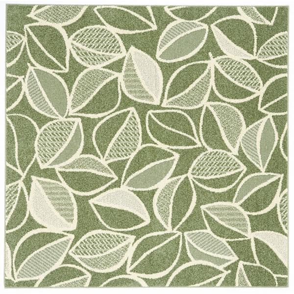 スミノエのラグマット カラープランツ(COLOR PLANTS)【おしゃれ/通年】グリーンの全体画像