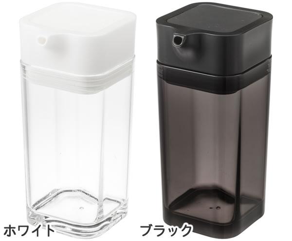 プッシュ式醤油差し タワー【キッチン収納/おしゃれ】カラーバリエーション全体画像