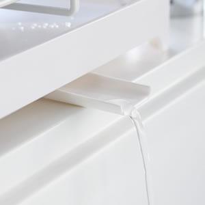 水切りワイヤーバスケット タワー【キッチン収納/おしゃれ】ホワイトの部分説明画像2